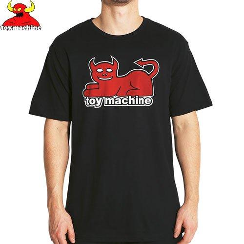 【トイマシーン TOY MACHINE スケボー Tシャツ】DEVIL CAT TEE【ブラック】NO53