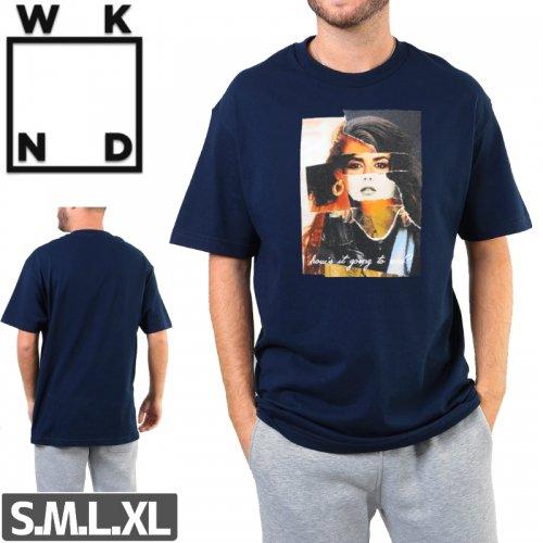 【ウィークエンド WKND スケボー Tシャツ】TRUMAN SHOW TEE【ネイビー】NO11