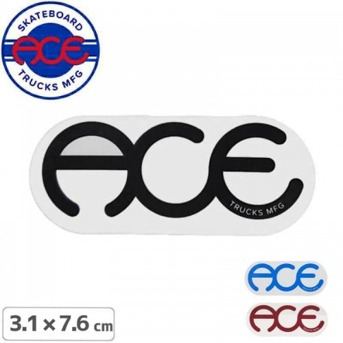 【ACE TRUCKS エース スケボー ステッカー】RINGS LOGO【3.1cm × 7.6cm】NO2