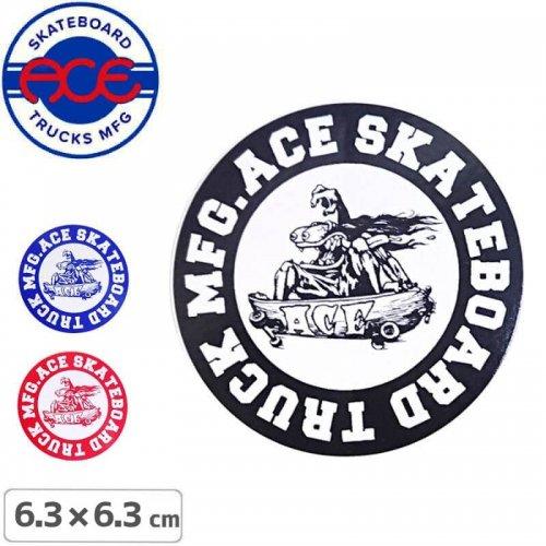 【ACE TRUCKS エース スケボー ステッカー】ROUND LOGO【6.3cm × 6.3cm】NO6