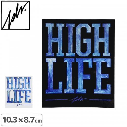 【JSLV ジャスリブ スケボー ステッカー】HI LIFE STICKER【10.3cm x 8.7cm】NO1