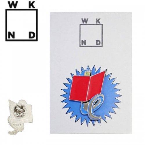 【ウィークエンド WKND スケボー ピンバッジ】BOOKWORM PIN【3.1cm x 2.1cm】NO1