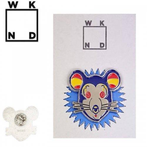 【ウィークエンド WKND スケボー ピンバッジ】COOKIE MOUSE PIN【3.3cm x 3.2cm】NO2