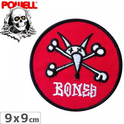 【パウエル POWELL スケボー ワッペン】RAT BONES RED【9cm x 9cm】NO12