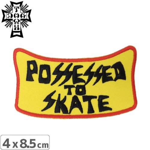 【DOG TOWN ドッグタウン ワッペン】SUICIDAL POSSESSED TO SKATE PATCH NO3
