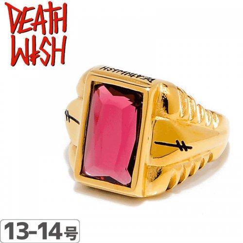 【デスウィッシュ DEATHWISH スケボー 小物】ELLINGTON GOLD RING【ゴールド】NO1