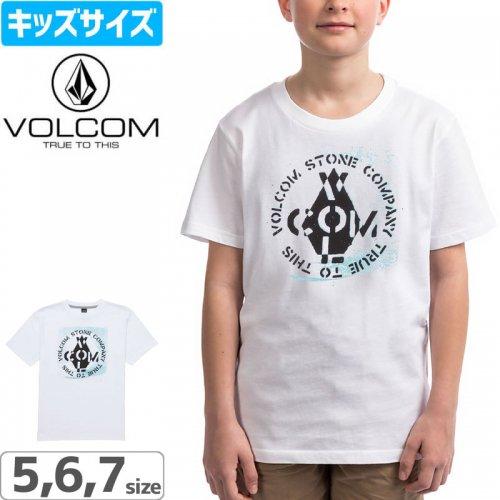 【ボルコム VOLCOM キッズ Tシャツ】LITTLE BOYS CAGE TEE【ホワイト】NO83