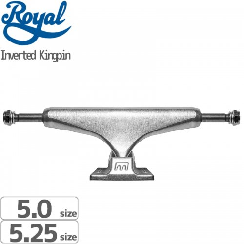 【ROYAL ロイヤル スケボー トラック】INVERTED KINGPIN TRUCK STANDARD RAW NO58