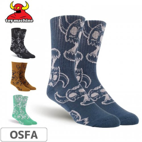【TOY MACHINE トイマシーン ソックス】MONSTER SKULL SOCKS NO43