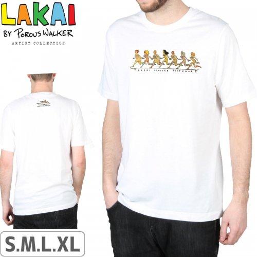 【LAKAI LIMITED FOOTWEAR ラカイ スケボー Tシャツ】POROUS GIRLS TEE【ホワイト】NO38