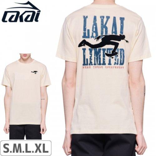 【LAKAI LIMITED FOOTWEAR ラカイ スケボー Tシャツ】BEND TEE【クリーム】NO40