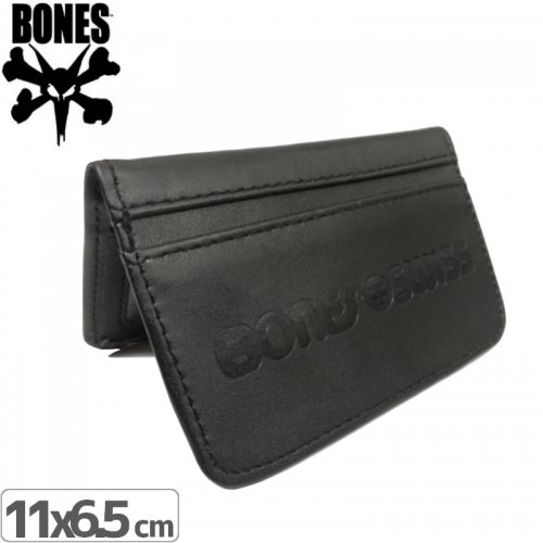 【BONES ボーンズ 財布 カード入れ】VINYL DEBOSSED WALLET BLACK【ブラック】NO1