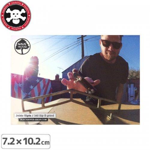 【BLACKRIVER 指スケ ステッカー】JELDO ULPTS 360 FLIP K-GRIND STICKER【7.2cmx10.2cm】NO30