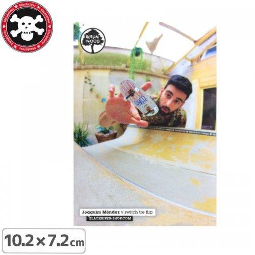 【BLACKRIVER 指スケ ステッカー】JOAQUIM MENDEZ SWITCH TRE FLIP STICKER【10.2cmx7.2cm】NO31
