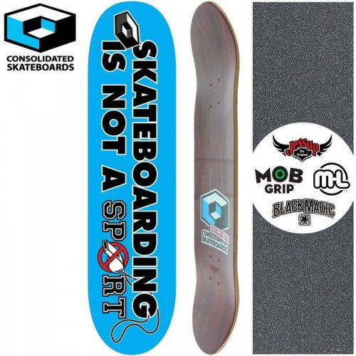 【CONSOLIDATED コンソリデーテッド スケートボード デッキ】SKATEBOARDING IS NOT A SPORTS DECK[8.125インチ]NO23