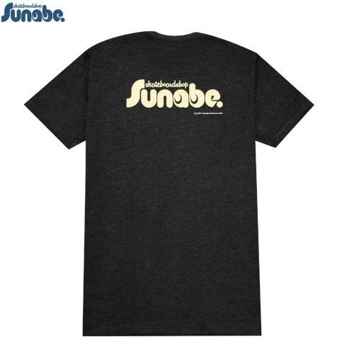 【SKATEBOARD SHOP SUNABE スナベオリジナル】BACK LOGO ライトウェイト Tシャツ【ヘザーチャコール】NO2