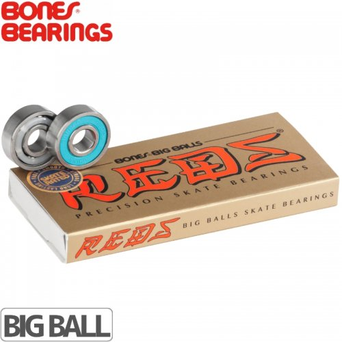【ボーンズ BONES BEARINGS スケボー ベアリング】REDS 608 BIG BALL BEARING【ABEC5相当】NO10