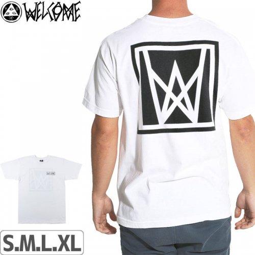【WELCOME ウェルカム スケートボード Tシャツ】ICON TEE【ホワイト】NO3