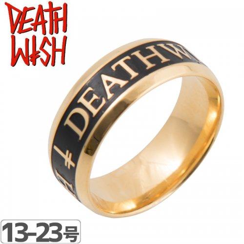 【デスウィッシュ DEATHWISH スケボー リング 指輪】DIVINE GOLD RING【ゴールド】NO3