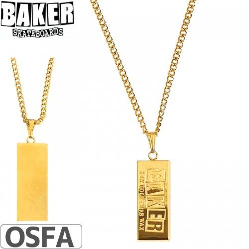 【BAKER ベーカー ネックス】CURB WAX GOLD NECKLACE【ゴールド】NO2