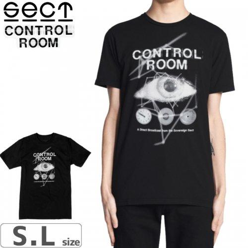 【SECT セクト スケボー Tシャツ】CONTROL ROOM TEE【ブラック】NO1