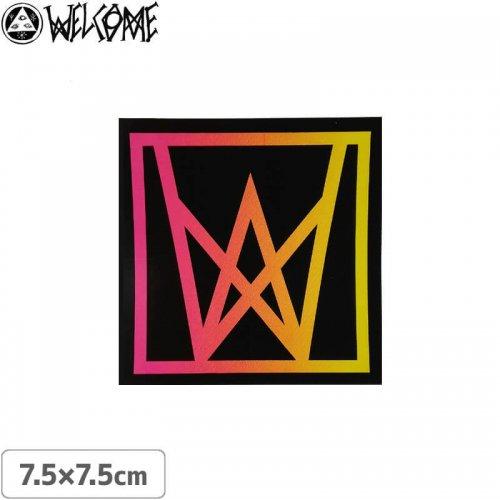 【スケボー ステッカー ウェルカム】WELCOME ICON STICKER【7.5cm×7.5cm】NO6