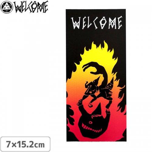 【スケボー ステッカー ウェルカム】WELCOME STICKER【7cm×15.2cm】NO9