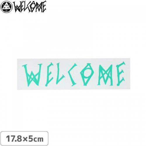 【スケボー ステッカー ウェルカム】WELCOME COLORE LOGO STICKER【17.8cm×5cm】NO12