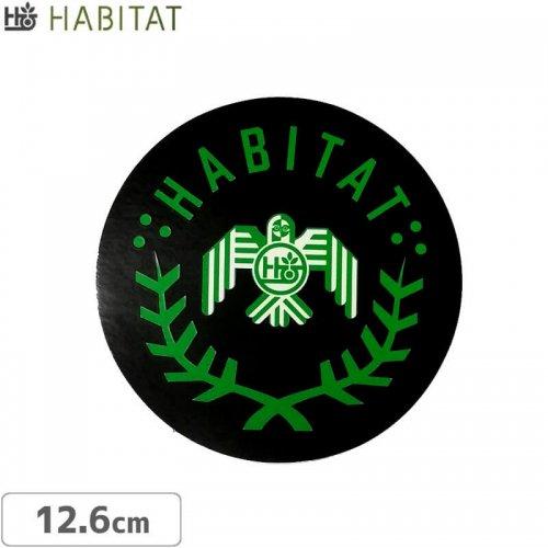 【スケボー ステッカー ハビタット】HABITAT RAPTOR DECAL【12.6cm×12.6cm】NO25