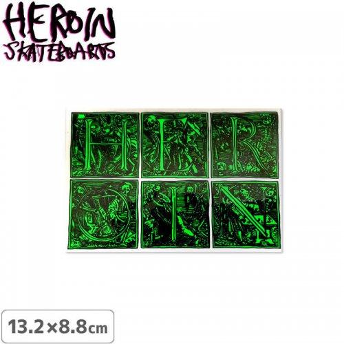 【ヘロイン スケボー ステッカー】HEROIN STICKER【13.2cm×8.8cm】NO30