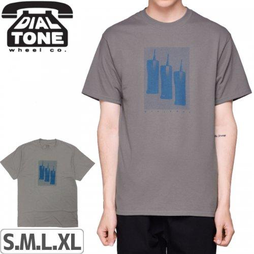 【ダイアルトーン DIAL TONE WHEELS スケボー Tシャツ】ZACH MORRIS TEE【グレー】NO7