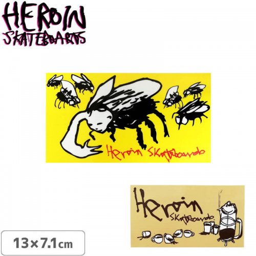 【ヘロイン スケボー ステッカー】HEROIN HERITAGE SERIES STICKER【13cm×7.1cm】NO36