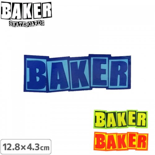 【ベーカー スケボー ステッカー】BAKER COLOR LOGO STICKERR【12.8cm×4.3cm】NO67