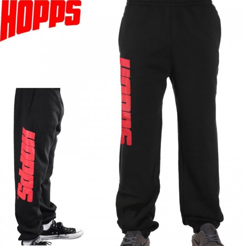 【HOPPS ホップス スケボー パンツ スウェット】BIG HOPPS SWEAT PANTS【ブラック】NO1
