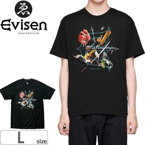 【EVISEN エビセン スケボー Tシャツ】THE SEVEN ARMS TEE【ブラック】NO1