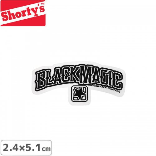 【ショーティーズ SHORTYS ステッカー】BLACKMAGIC LOGO STICKER【5.1cm x 2.4cm】NO24