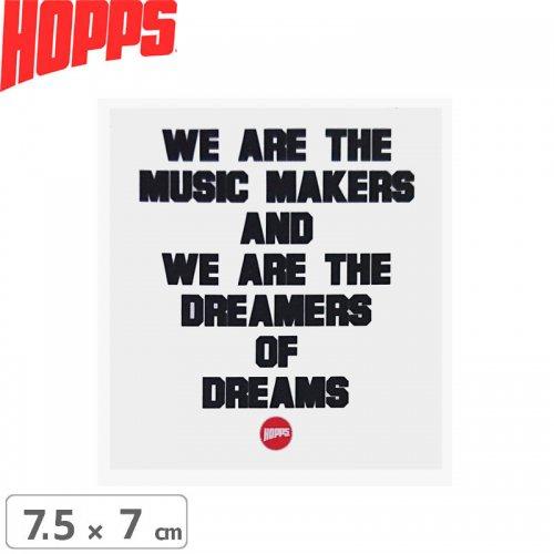 【HOPPS ホップス ステッカー】MUSIC MAKERS【7.5cm x 7cm】NO3