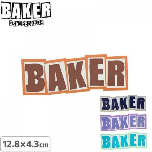 【ベーカー スケボー ステッカー】BAKER COLOR LOGO STICKERR【12.8cm×4.3cm】NO68