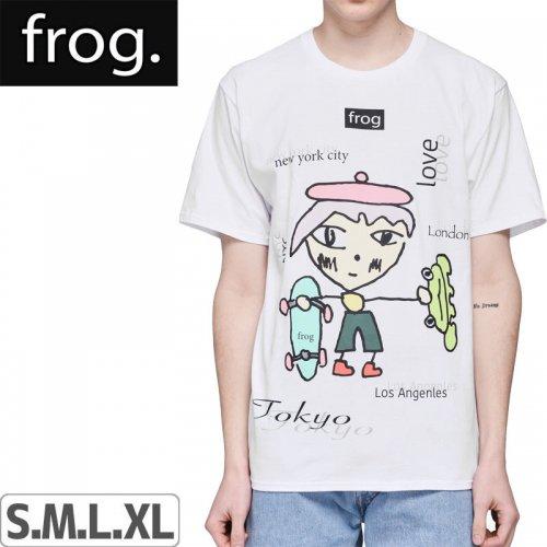 【FROG SKATEBOARDS フロッグ スケートボード Tシャツ】WORLD WIDE LOVE TEE【ホワイト】NO3