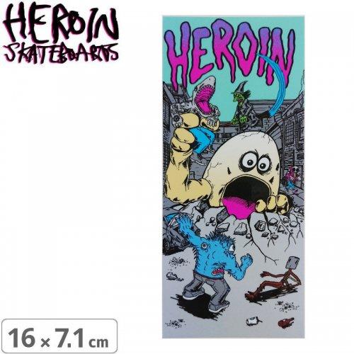 【ヘロイン スケボー ステッカー】THE BEHEMOTH【16cm×7.1cm】NO38