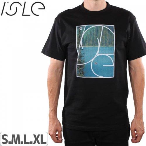 【ISLE アイル スケボー Tシャツ】HALYCON TEE【ブラック】NO3