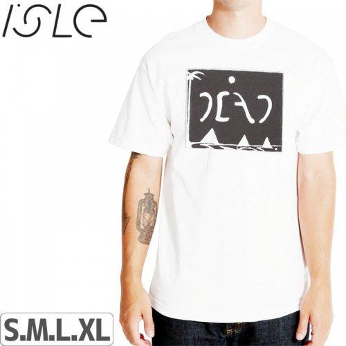 【ISLE アイル スケボー Tシャツ】GAHL DEAD TEE【ホワイト】NO4