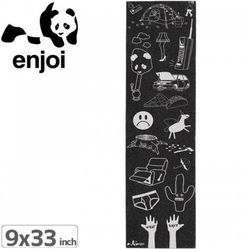 【ENJOI エンジョイ スケボー デッキテープ】ENJOI ALL DRESSED UP GRIPTAPE【9 x 33】NO9