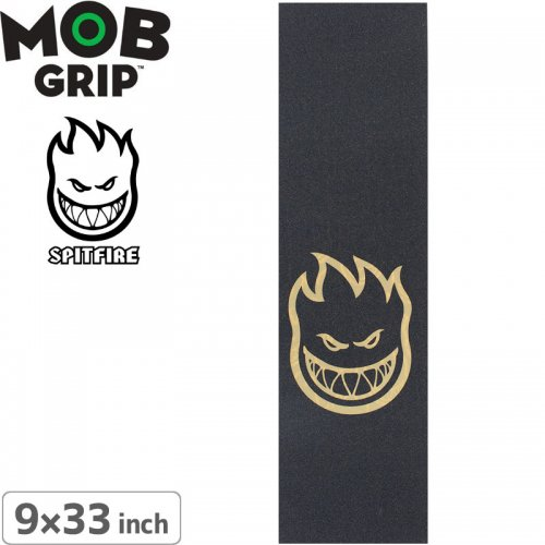 【モブグリップ MOB GRIP デッキテープ スピットファイア】Spitfire Wheels Bighead Black / Clear Griptape【9 x 33】NO130