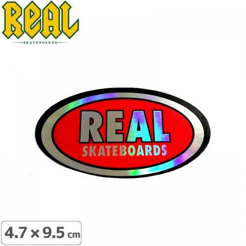 【リアル REAL SKATEBOARD スケボー ステッカー】LOGO STICKER【4.7cm x 9.5cm】NO48