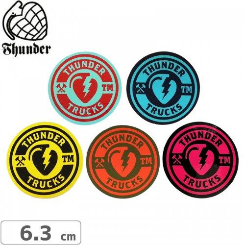 【サンダートラック THUNDER スケボー ステッカー】Circle Sticker【6.3cm×6.3cm】NO47