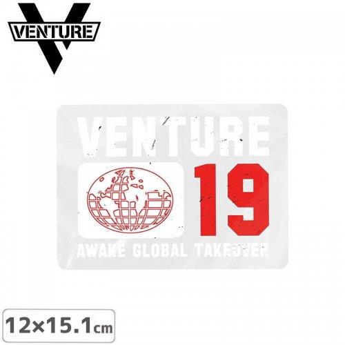【ベンチャー VENTURE スケボー ステッカー】Awake Global Takeover Sticker【12cm × 15.1cm】NO28