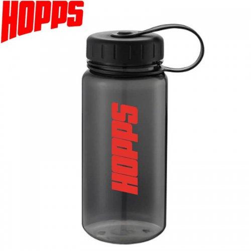【スケボー 水筒 ストリート HOPPS ホップス】BPA Free Water Bottle 18oz【クリアブラック】NO1