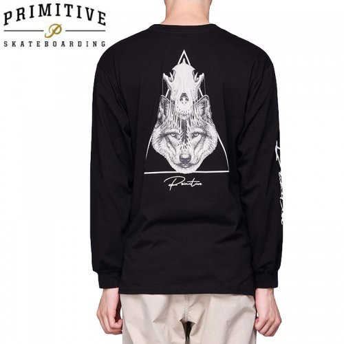 【PRIMITIVE プリミティブ スケボー ロング Tシャツ】HUNTER L/S TEE【ブラック】NO9