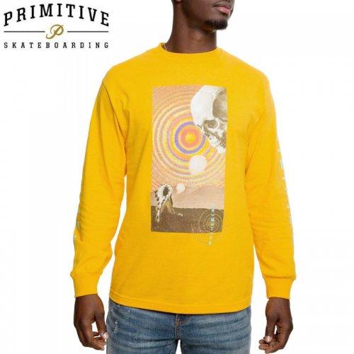 【PRIMITIVE プリミティブ スケボー ロング Tシャツ】SPIRIT PLAIN L/S TEE【ゴールド】NO10